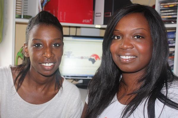 Djenaba Diao et Fatoumata Sidibe, créatrices de E-market Africa
