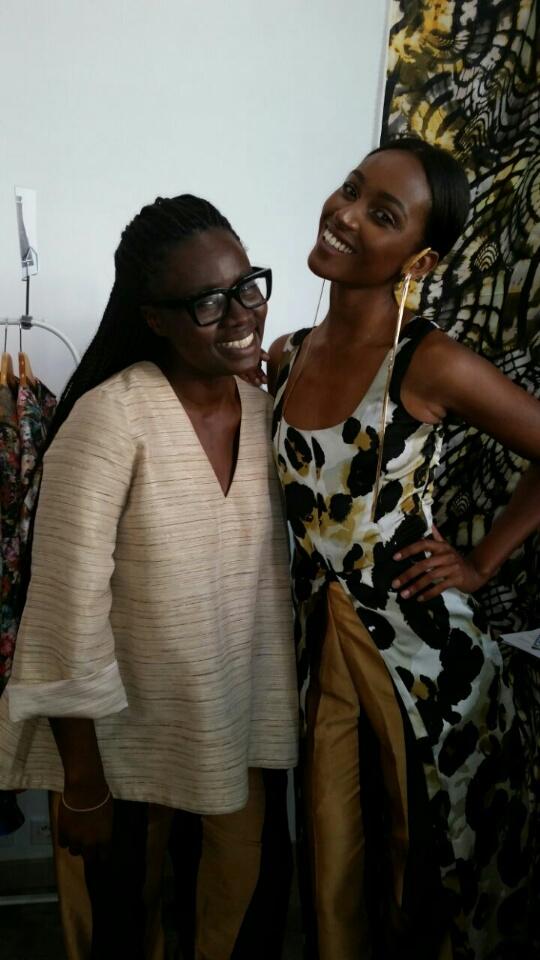 Sarah Diouf et son mannequin