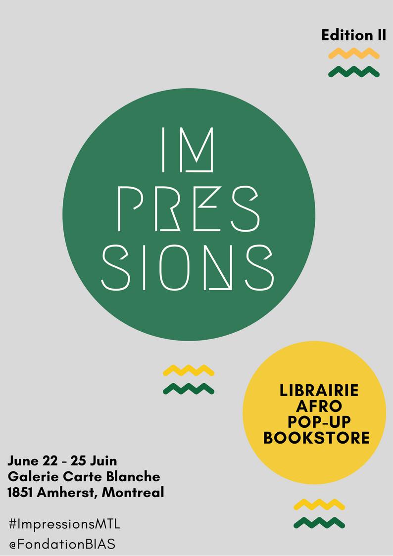 Impressions, librairie éphémère afro