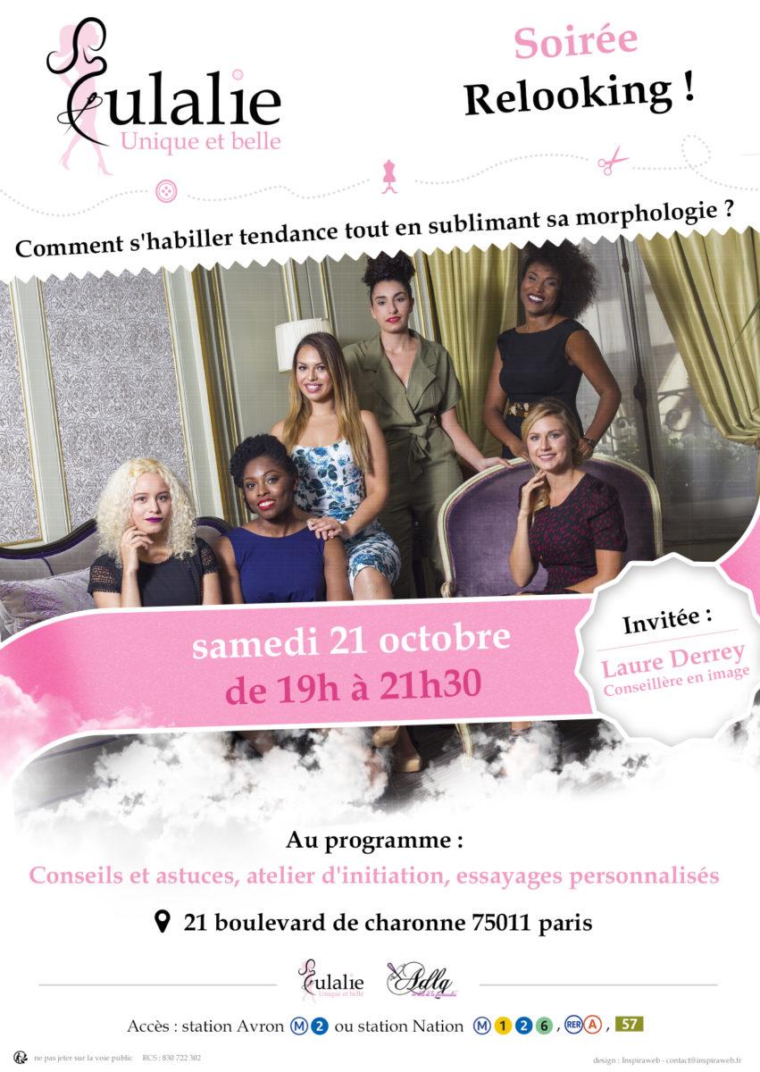Eulalie: Soirée Relooking, samedi 21 octobre de 19h à 21h30 à Paris!