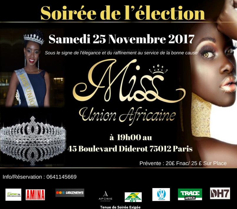 soirée de l'élection de Miss Union Africaine